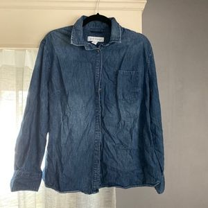 Plus Size long sleeve jean button up